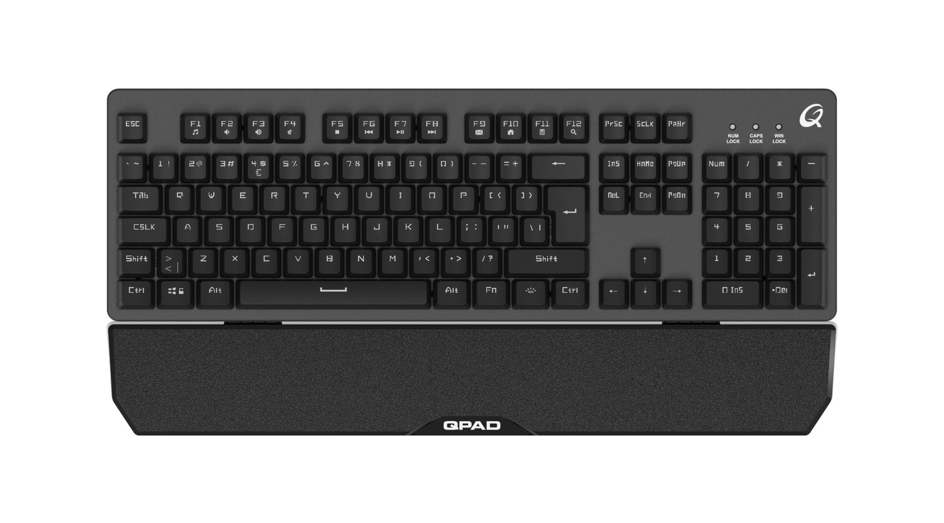 QPAD MK 40 PRO Gaming Membranical Keyboard Gamingtastatur